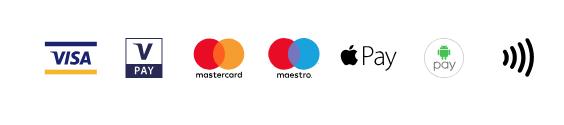 Elfogadott bankkártyák logói
